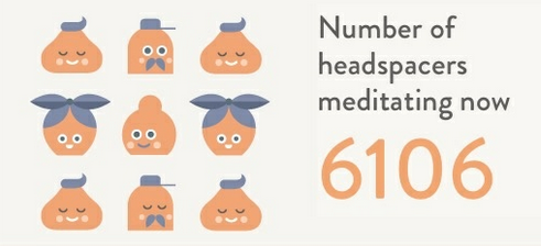 Headspace's use of social proof