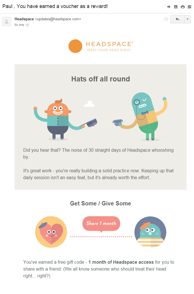 Headspace's smart use of behavioral economics in emails