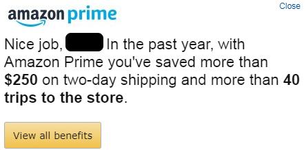 Amazon contextual alert