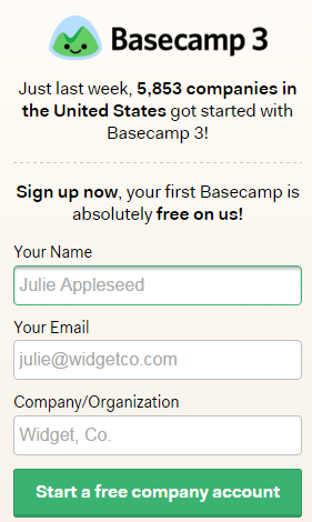 basecamp social norm example