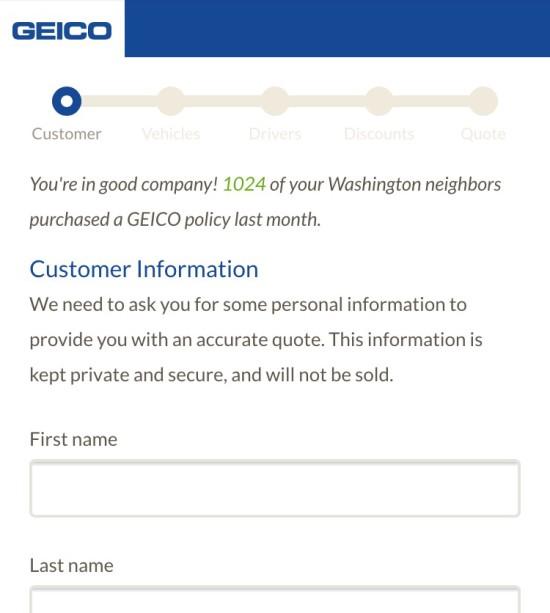geico insurance social norm example