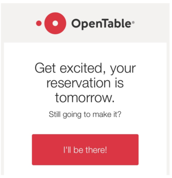 OpenTable precommitment technique