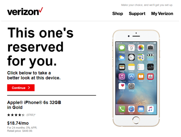 verizon loss aversion marketing